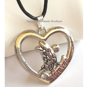 Minnie Mouse Crystal Heart Necklace Disney